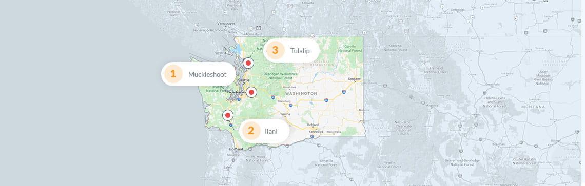 Map of indian casinos in washington state game o meter arma 2