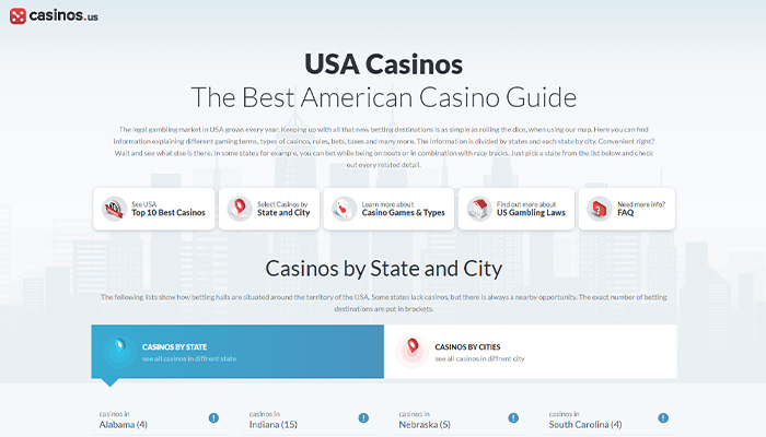 Gambling Destinations Usa